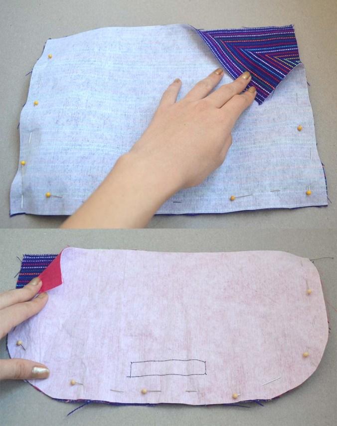 coser bolsas y tapadera