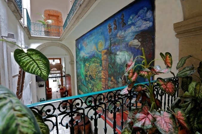 Interior de México City Hostel